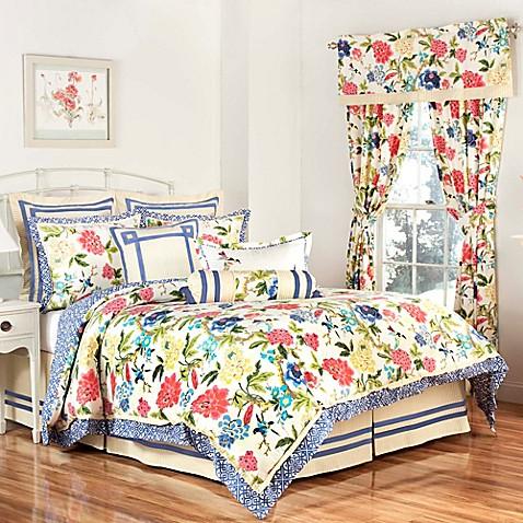 Waverly 174 Charmed Reversible Comforter Set In Gardenia