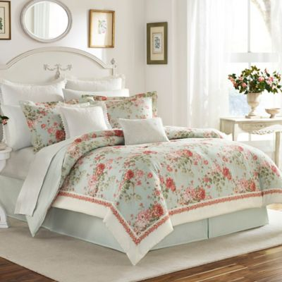 Laura Ashley® Vivienne King Comforter Set in Light Green