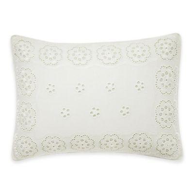 Laura Ashley® Vivienne Breakfast Throw Pillow in White