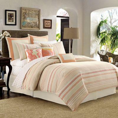 Tommy Bahama® La Scala Breezer Queen Comforter Set in Papaya