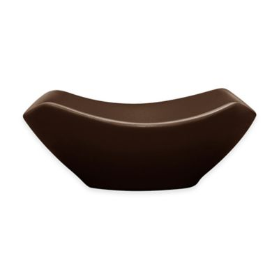 Noritake® Colorwave Small Square Bowl in Chocolate