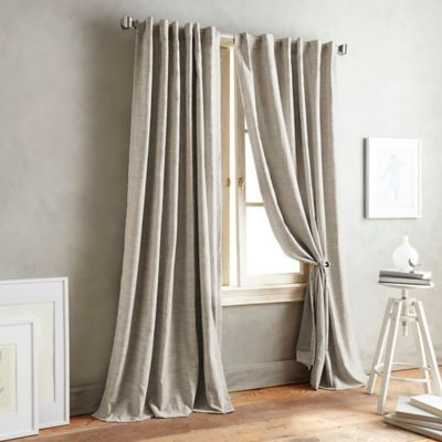 DKNY Front Row 63-Inch Back Tab Window Curtain Panel in Linen