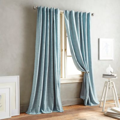 DKNY Front Row 63-Inch Back Tab Window Curtain Panel in Blue Haze