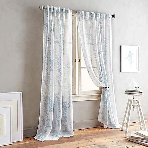 Dkny Front Row Back Tab Sheer Window Curtain Panel Www