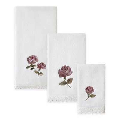 Pink Floral Bath Towels