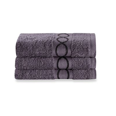 Hand Towels in Charcoal (Set of 3)