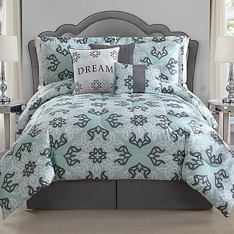 Dream Comforter Set In Mint Grey Www Bedbathandbeyond Com