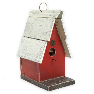 Loft Living Wooden Bird House in Red