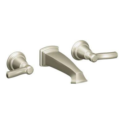 Moen® Rothbury Wall Mount Bathroom Faucet in Brushed Nickel