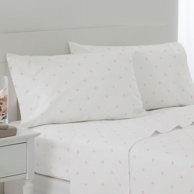 Southern Tide Tossed Skipjack Twin Sheet Set in Pink