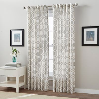 Link 63-Inch Back Tab Window Curtain Panel in Linen