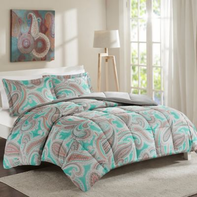 Intelligent Design Paola 5-Piece Full/Queen Comforter Set in Aqua