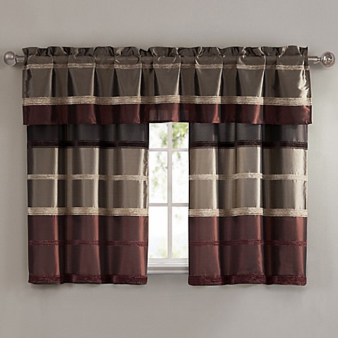 Bombay Window Curtain Tier Pair And Valance In Rust Www