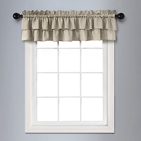 Veratex vintage ruffle 14 inch x 70 inch bath window for 14 inch window