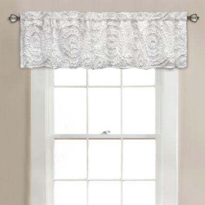 Lush Décor Keila 70-Inch x 14-Inch Window Valance in White