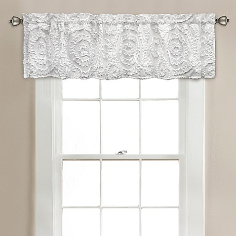 Lush d cor keila 70 inch x 14 inch window valance in white for 14 inch window