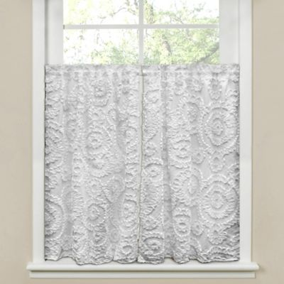 Lush Décor Keila 64-Inch x 45-Inch Window Curtain in White