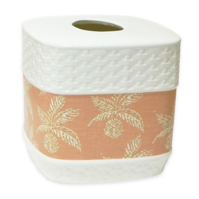 Pineapple Paradise Porcelain Tissue Boutique Box Cover