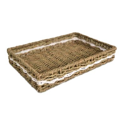 LaMont Home Riviera Seagrass Amenities Tray