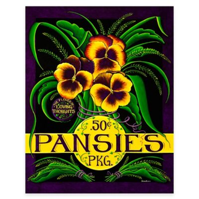 Pansy Seed Pack Graphic All Weather Outdoor Canvas Wall Art