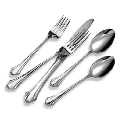 Lunt Silversmiths Bel Chateau Sterling Silver Flatware 5-Piece Place Setting