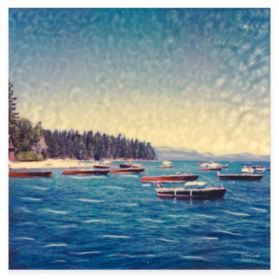 Wooden Boats All Weather Outdoor Canvas Art