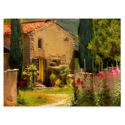 French Farm House All Weather Outdoor Canvas Art
