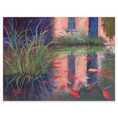 Coy Koi All Weather Outdoor Canvas Wall Art