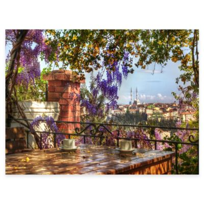 Coffee With A View All Weather Outdoor Canvas Wall Art