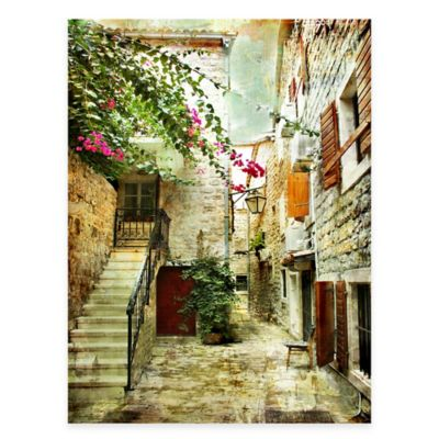Quiet Courtyard All Weather Outdoor Canvas Wall Art