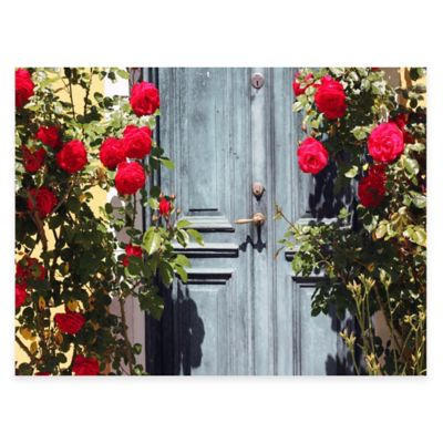 Secret Door All Weather Outdoor Canvas Wall Art