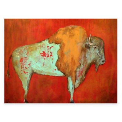 Red Buffalo All Weather Outdoor Canvas Art