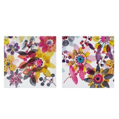 Intelligent Design Sweet Florals 2 Canvas Wall Art (Set of 2)