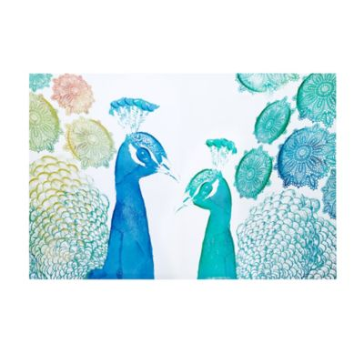 Intelligent Design Peacock Party Canvas Wall Art