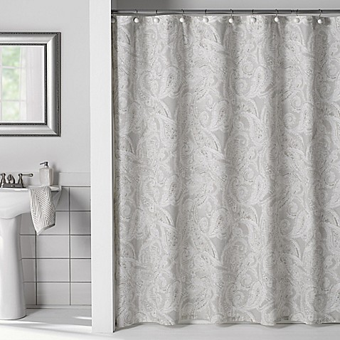 Flatiron Linen Paisley Shower Curtain Www