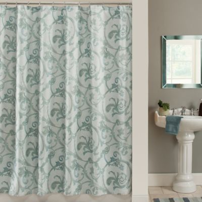 Savona 72-Inch x 84-Inch Shower Curtain in Blue
