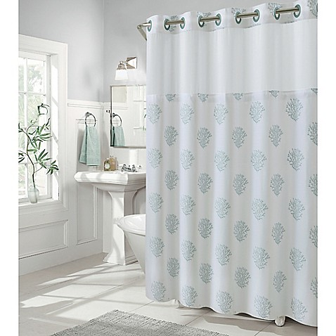 Buy Hookless Coral Reef 80 Inch X 54 Inch Shower Curtain