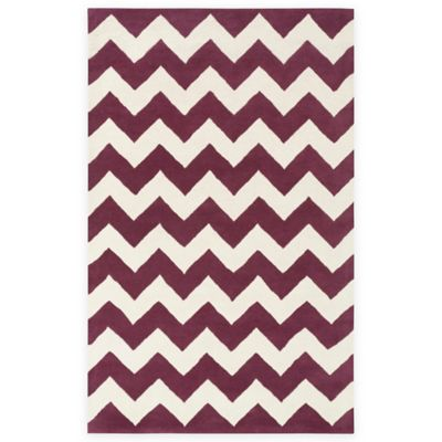 Artistic Weavers Transit Penelope 2-Foot x 3-Foot Accent Rug in Purple/Ivory