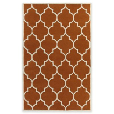 Artistic Weavers Transit Piper 3-Foot x 5-Foot Area Rug in Orange