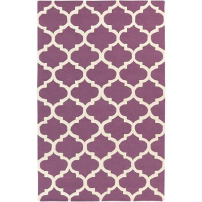 Purple/White Area Rugs