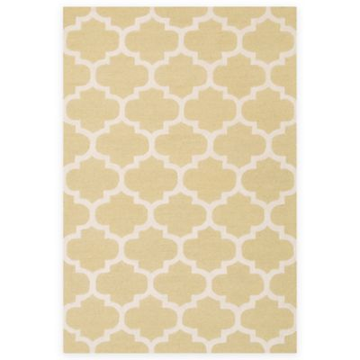 Gold/White Area Rugs