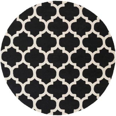 Artistic Weavers Pollack Stella 3-Foot 6-Inch Round Area Rug in Black/White