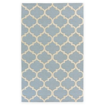 Artistic Weavers Pollack Stella 3-Foot x 5-Foot Area Rug in Light Blue/White