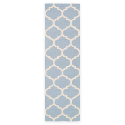 Artistic Weavers Pollack Stella 2-Foot 3-Inch x 8-Foot Area Rug in Light Blue/White