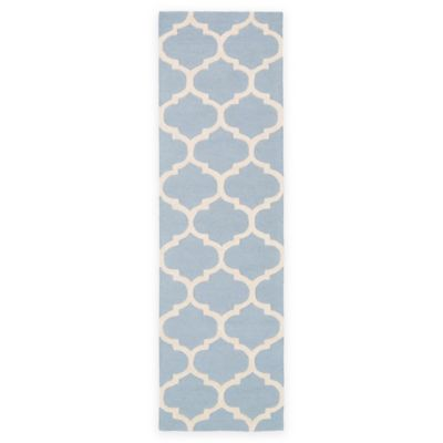 Artistic Weavers Pollack Stella 2-Foot 3-Inch x 10-Foot Area Rug in Light Blue/White