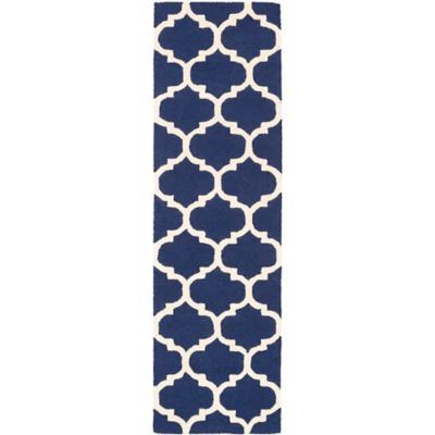 Artistic Weavers Pollack Stella 2-Foot 3-Inch x 10-Foot Area Rug in Navy/White