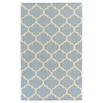Artistic Weavers Pollack Stella 4-Foot x 6-Foot Area Rug in Light Blue/White