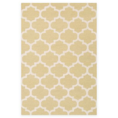 Artistic Weavers Pollack Stella 4-Foot x 6-Foot Area Rug in Gold/White
