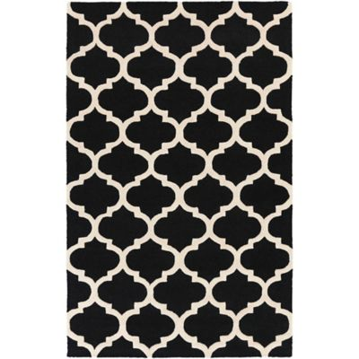 Artistic Weavers Pollack Stella 4-Foot x 6-Foot Area Rug in Black/White