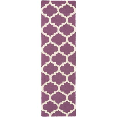 Artistic Weavers Pollack Stella 2-Foot 3-Inch x 12-Foot Area Rug in Purple/White